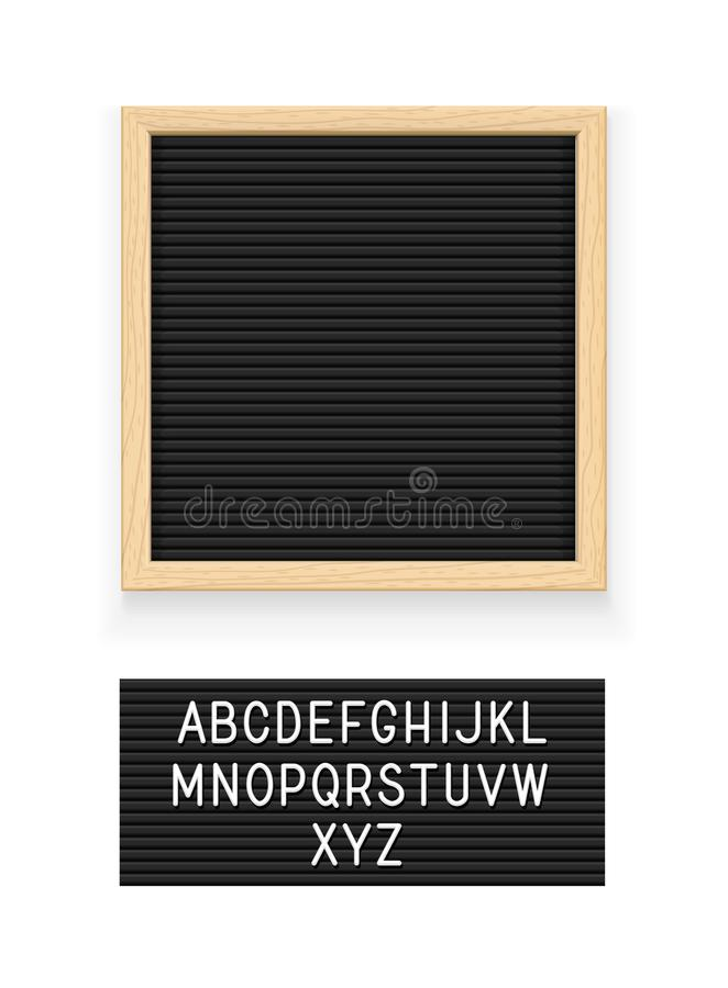 Black letter board vector illustration
