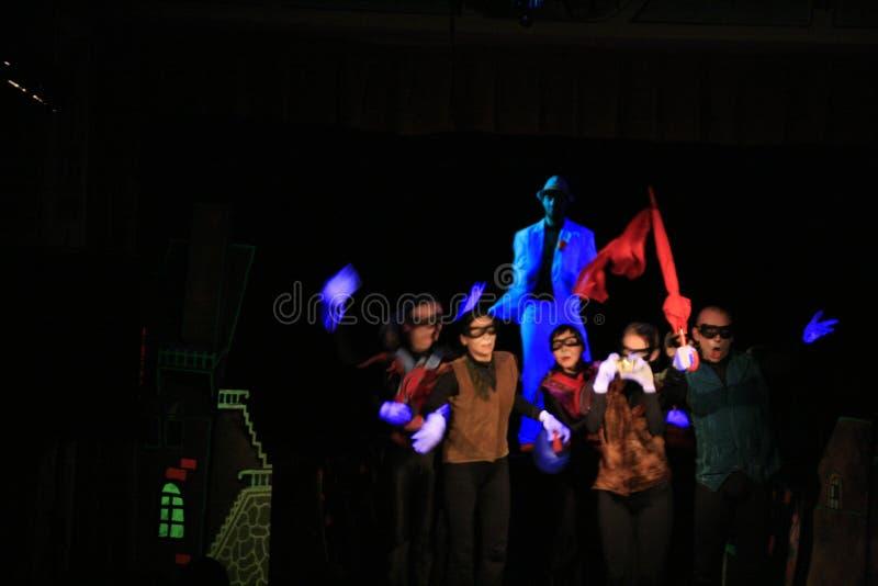 Black Light Theatre show stock image