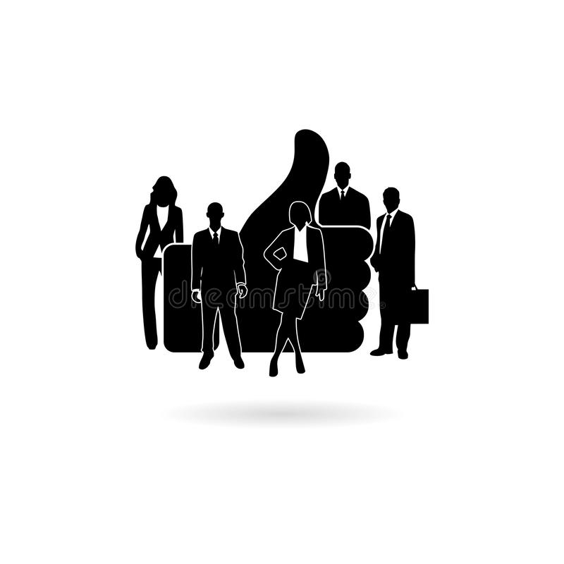 Black Like icon or logo, Flat design of guys and women`s. On white royalty free illustration