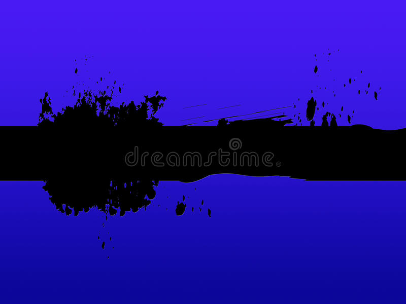 Black Line Background Means Painting Blotches And Blue. Black Line Background Meaning Painting Blotches And Blue vector illustration