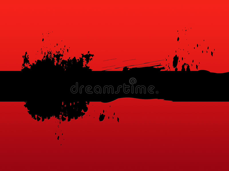 Black Line Background Means Painting And Blotches. Black Line Background Meaning Painting And Blotches royalty free illustration