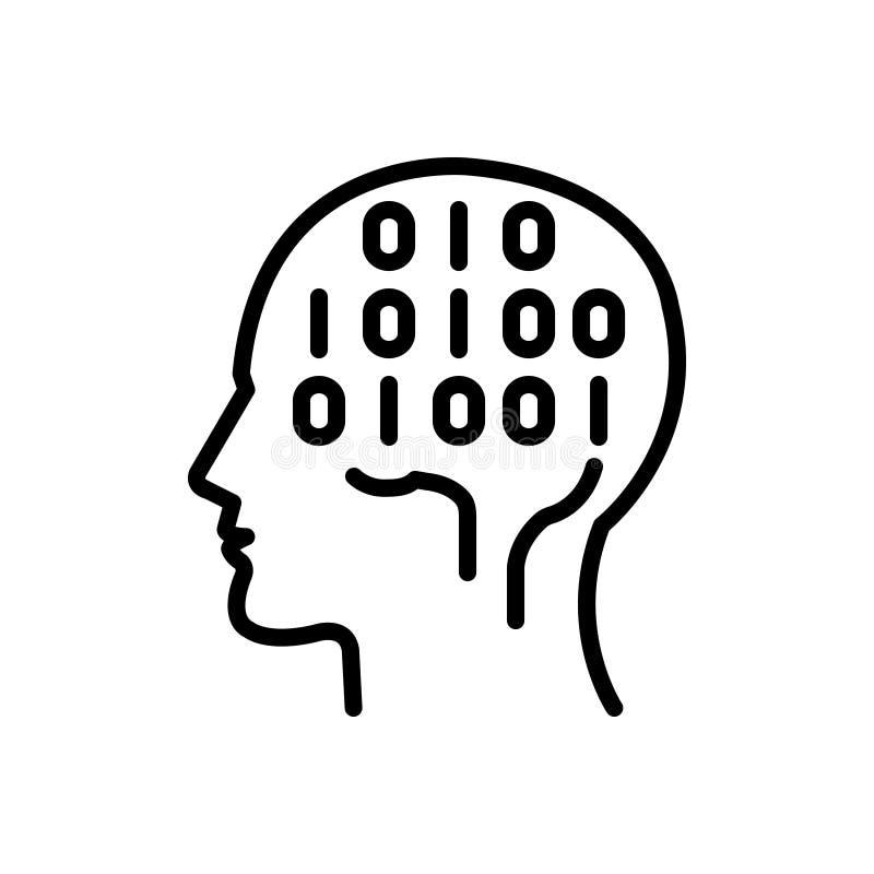binary mind stock illustration  illustration of network