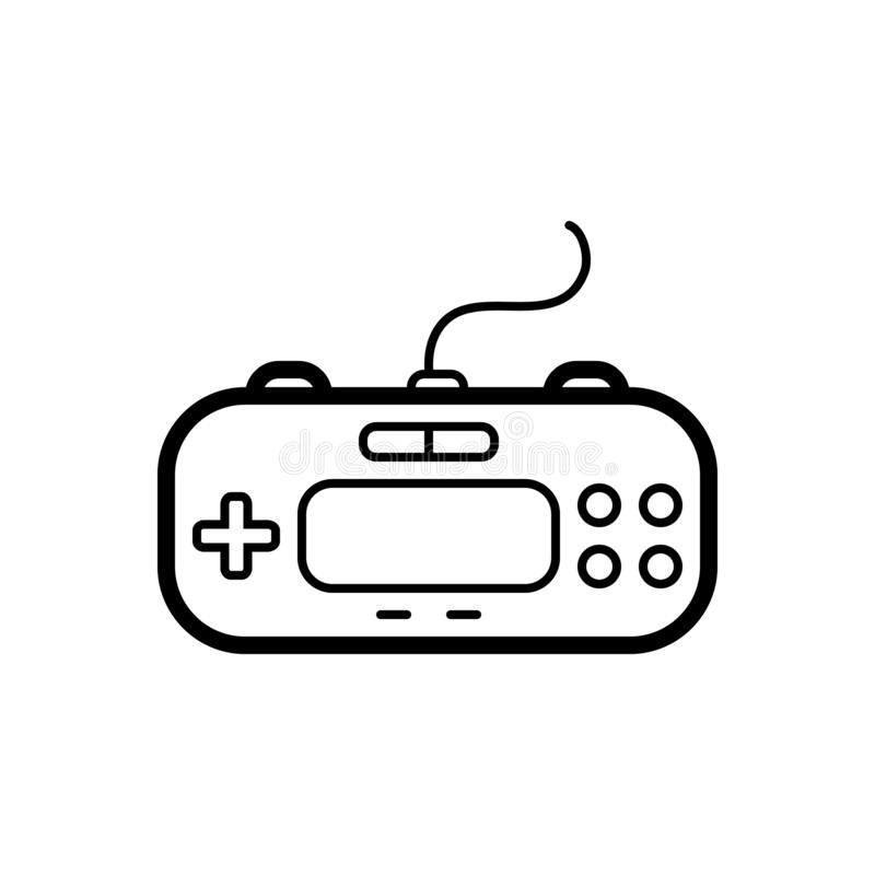 Black line icon for Control pad, joystick and mobile stock illustration