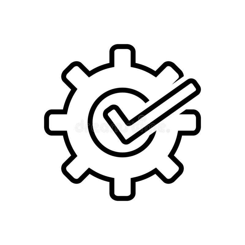 Black line icon for Customizable, custom and flexible vector illustration