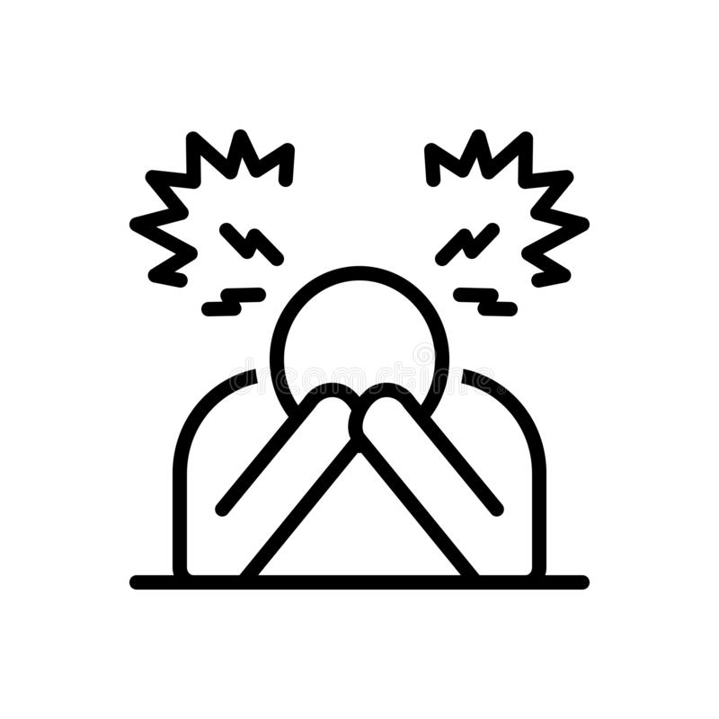 Free Black Line Icon For Despair, Disappointment, Frustration Royalty Free Stock Image - 143316326