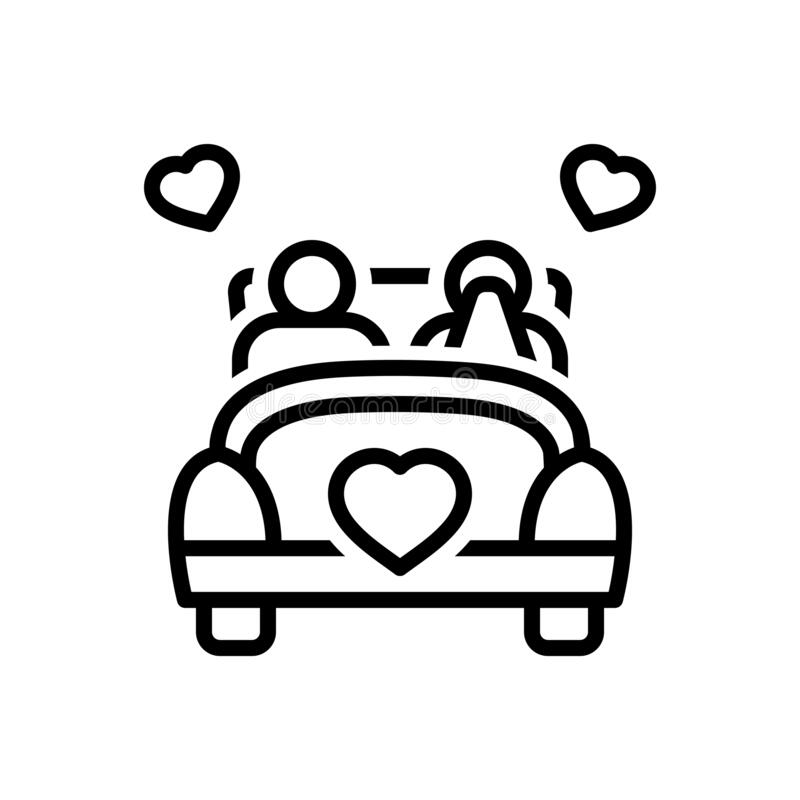Free Black Line Icon For Married, Hitched And Marital Royalty Free Stock Image - 170053256