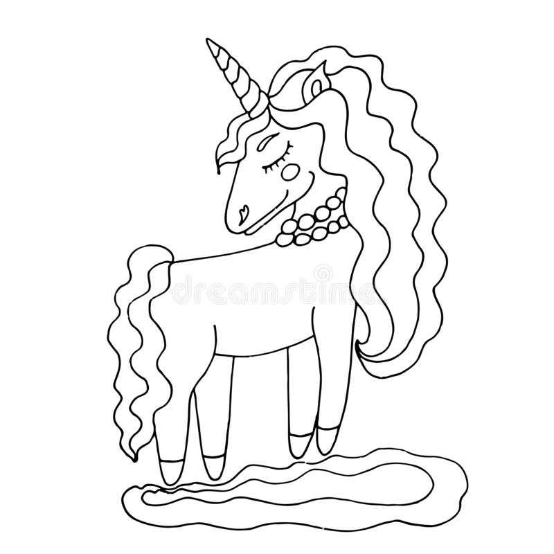 Unicorn Coloring Book Stock Illustrations 1 688 Unicorn Coloring