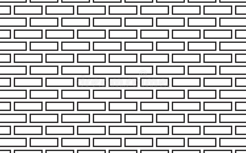 Black line and white square geometric easy abstract pattern vector background design. Black line and white square geometric easy abstract pattern vector vector illustration