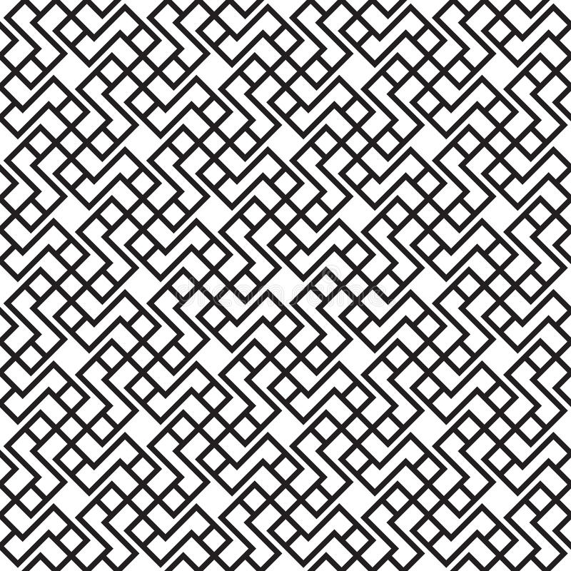 Black of lines rectangle square interconnected. stock illustration