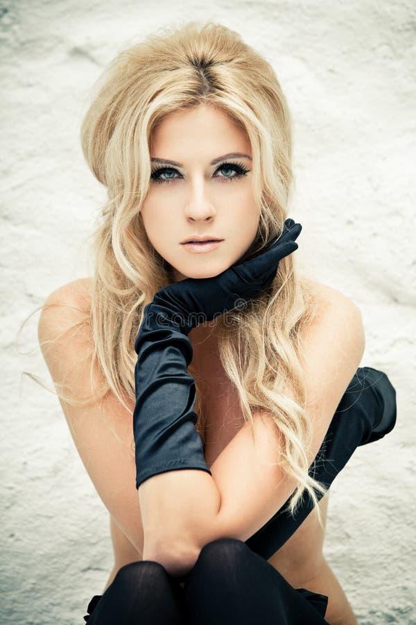 Download Black lingerie stock image. Image of gloves, care, female - 23914783
