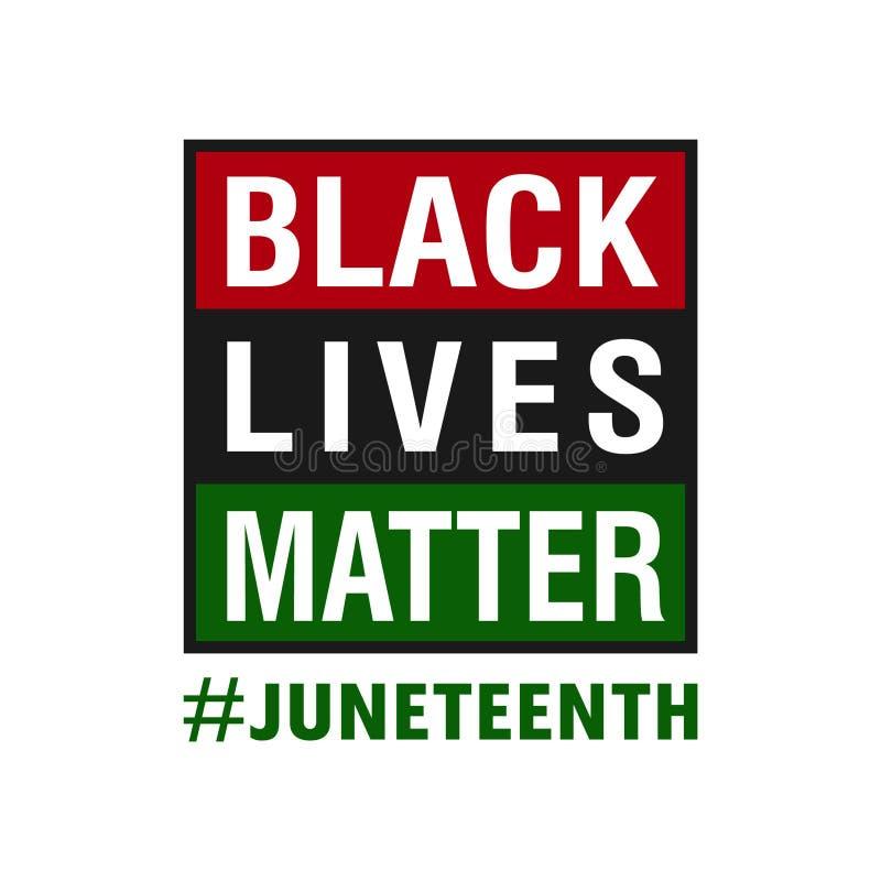 Free Black Lives Matter. Juneteenth, June 19, 1865 Stock Image - 221030571