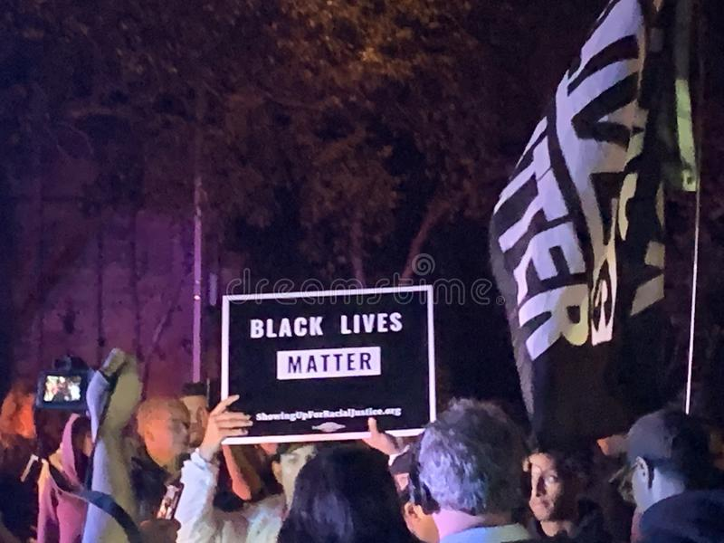 A Black Lives Matter protest in Richfield Minnesota royalty free stock photos