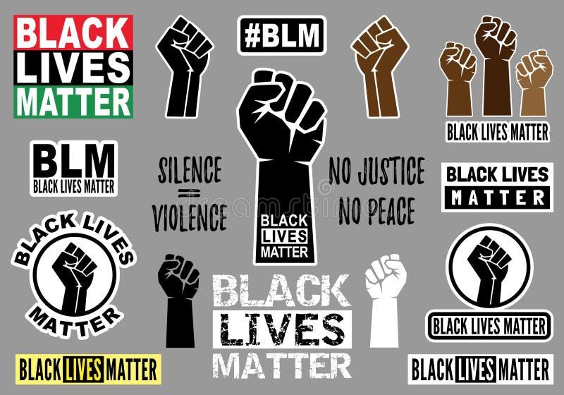 Black lives matter, vector graphic design elements royalty free stock image