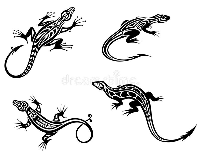 Download Black lizards stock vector. Illustration of illustration - 25820908