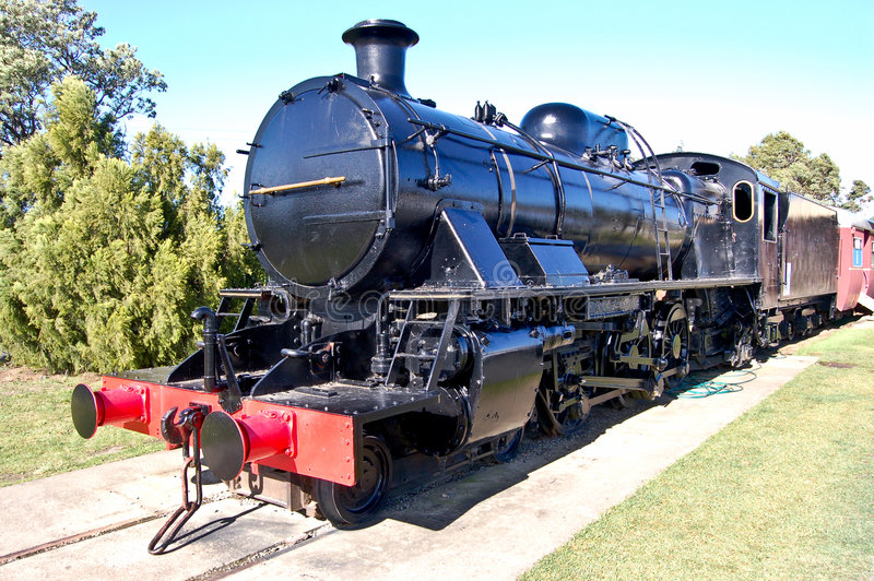 Black locomotive royalty free stock photography