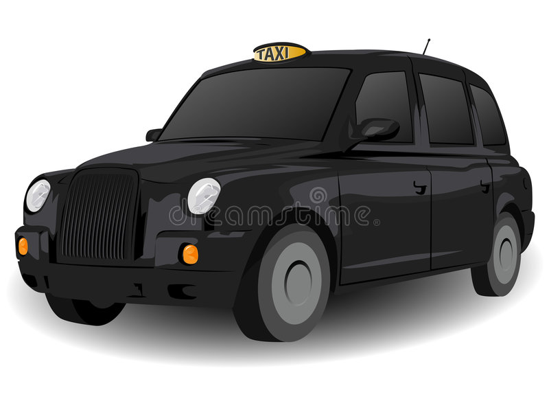 Black London Hackney Carriage royalty free illustration