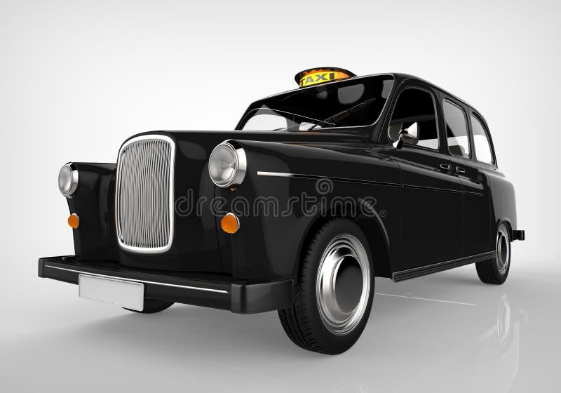 Black London Taxi stock illustration
