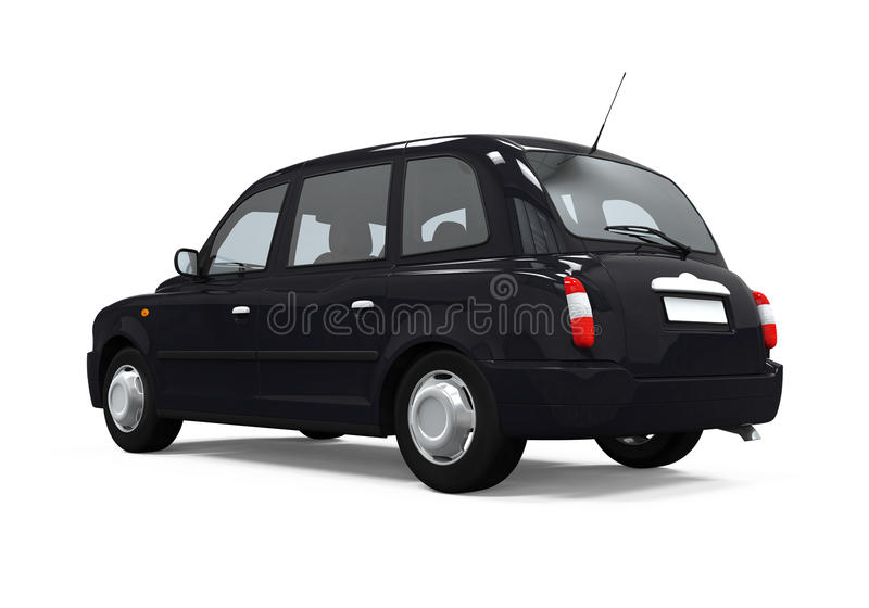 Black London Taxi vector illustration