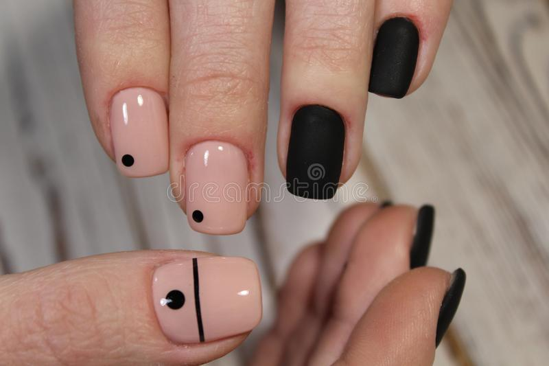 Black long nails stock photo. Image of background, girl - 112417278