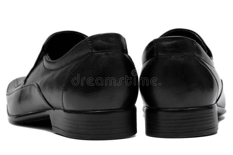 Black Low Shoes Royalty Free Stock Photography