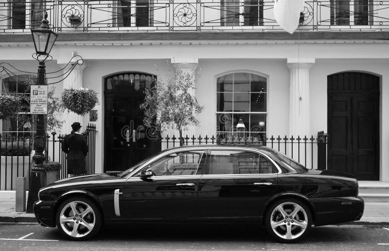 Black luxury car. royalty free stock images