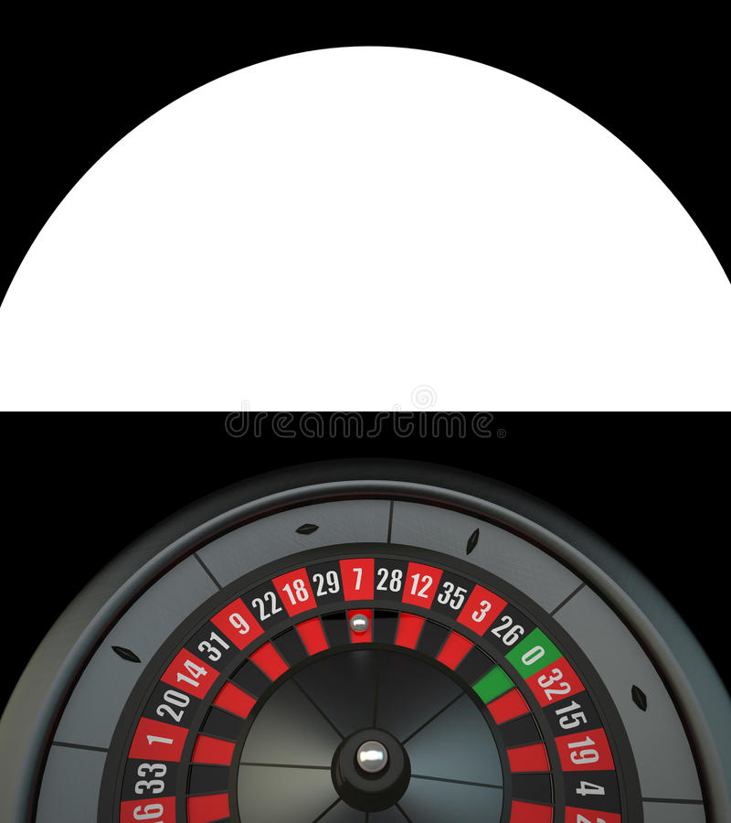 Black Luxury Casino Roulette. With Alpha Channel royalty free illustration