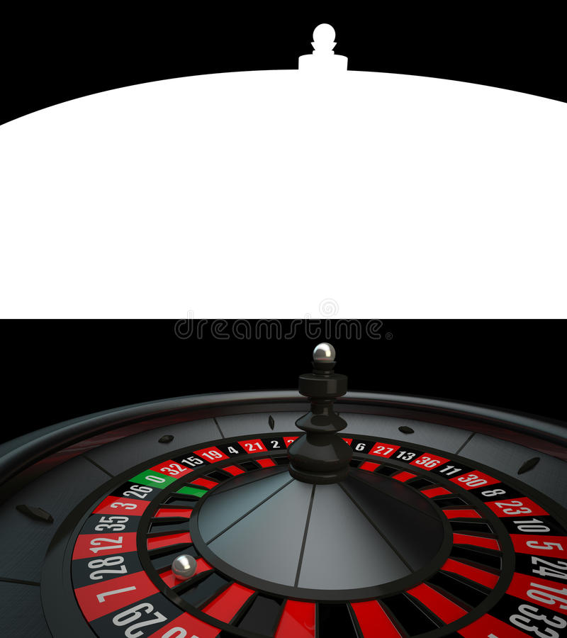Black Luxury Casino Roulette vector illustration
