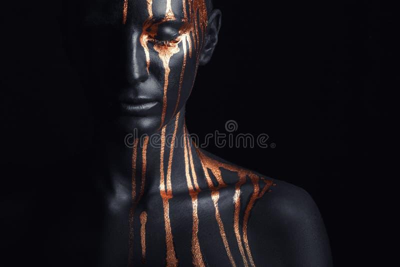 Black makeup stock image