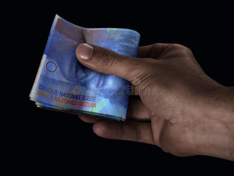 Black Hand And Franc Cash stock photography