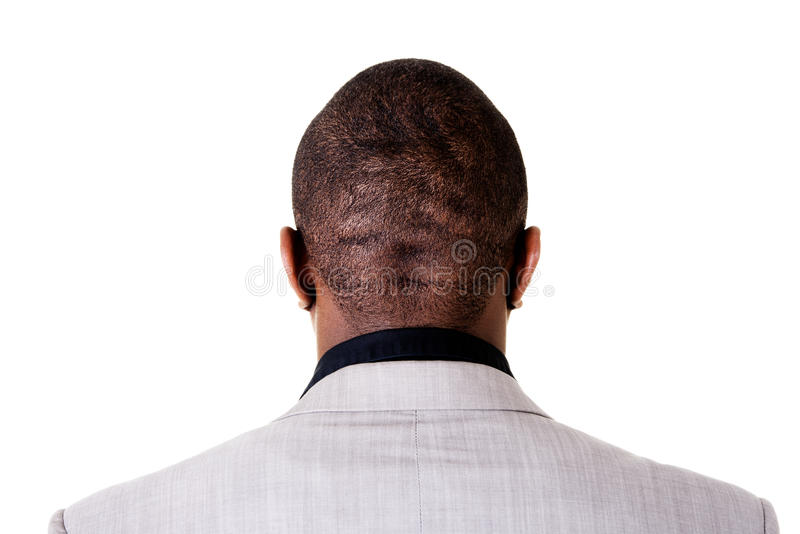 Black male head, back. royalty free stock image