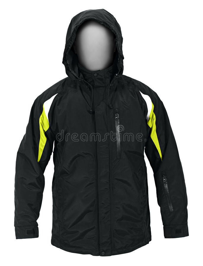 Download Black male sport jacket stock photo. Image of reflector - 27050348