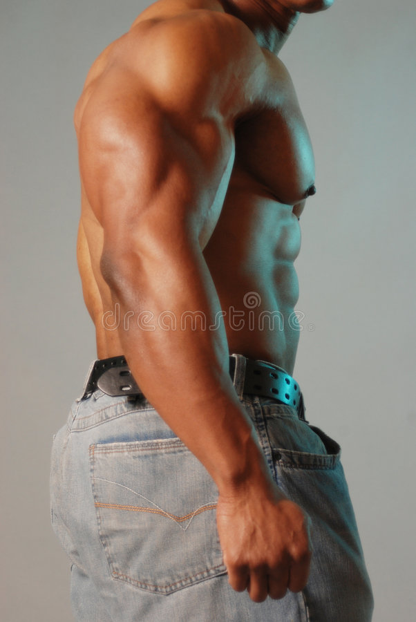 Black male torso royalty free stock photos
