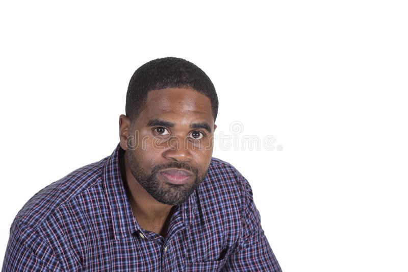 Black male on white stock photography