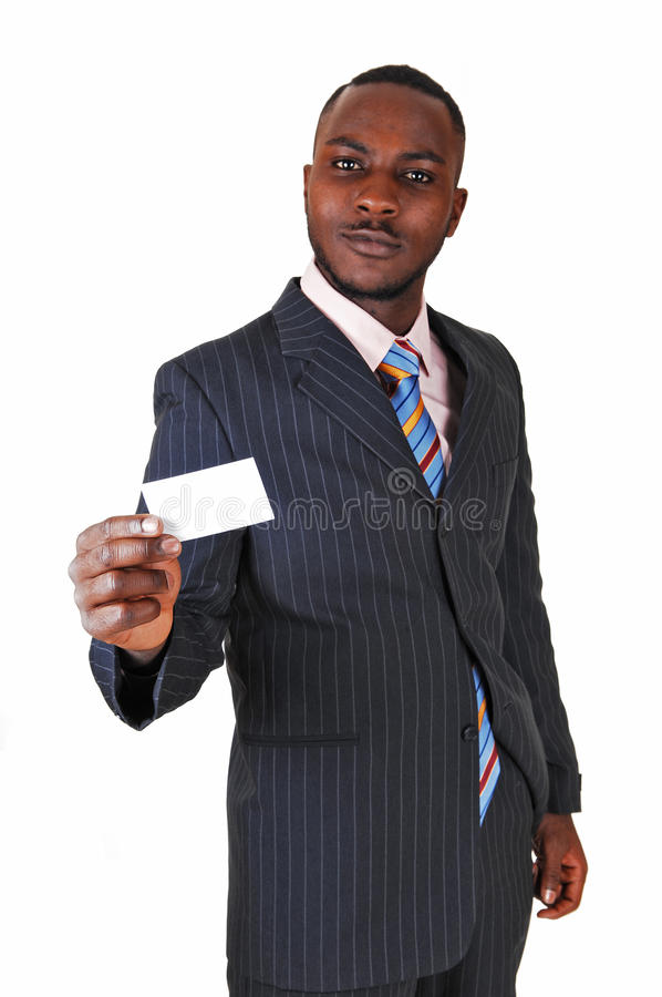 Black Man With Business Card. Stock Photo - Image: 36049102
