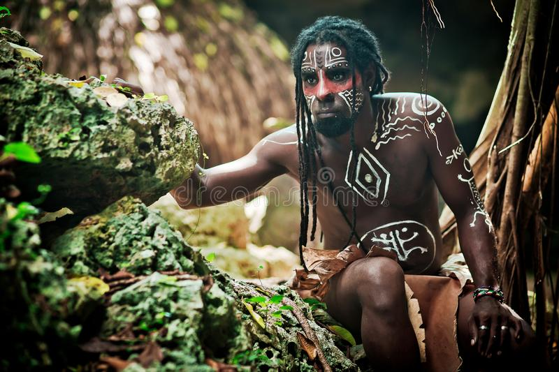 Black Man With Dreadlocks In The Image Of The Taino Indian In His