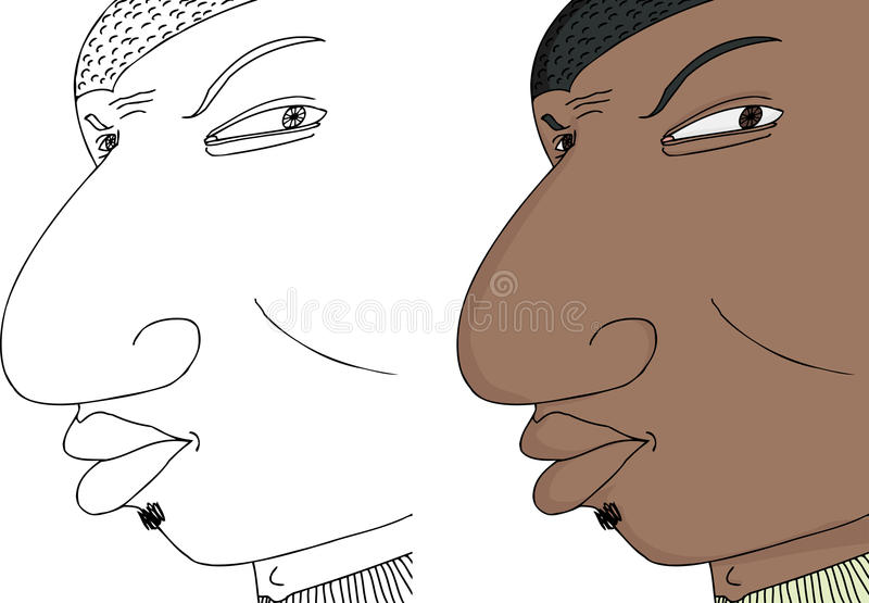Download Black Man Frowning stock vector. Image of ethnic, clip - 27715881