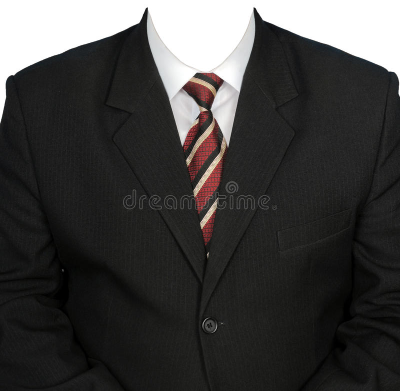 Download Black Man's Jacket And White Shirt. Stock Photo - Image: 10942588