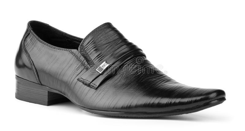 Black man's shoe royalty free stock photography