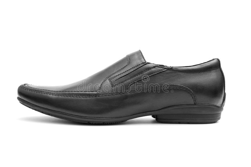 Black  man's shoe royalty free stock photo