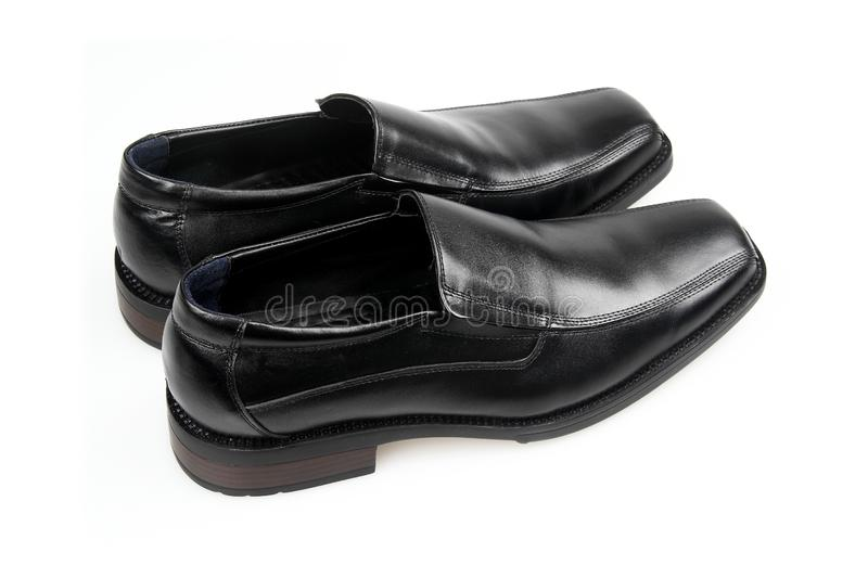 Black man's shoes stock photos