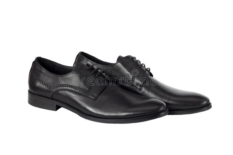 Black man's shoes isolated on white background stock image