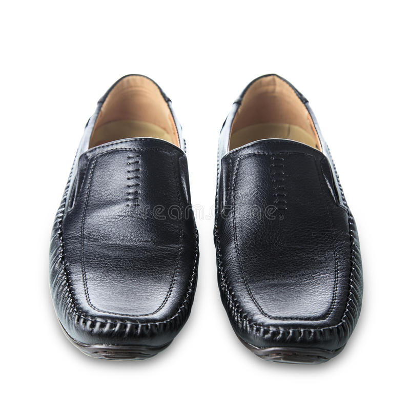 Black man's shoes royalty free stock photo
