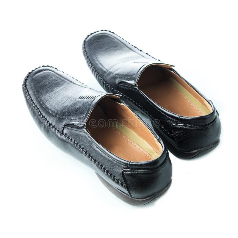 Black man's shoes stock photo