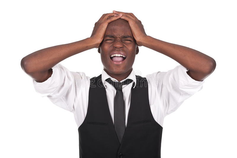 Download Black Man Screaming With Headache Stock Photo - Image: 25337870
