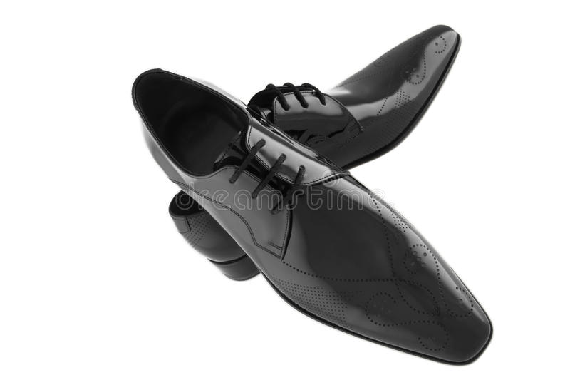 The black man shoes stock photography
