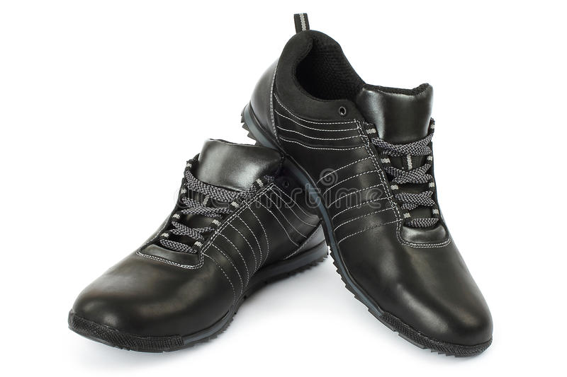 Black Man Shoes Royalty Free Stock Photos