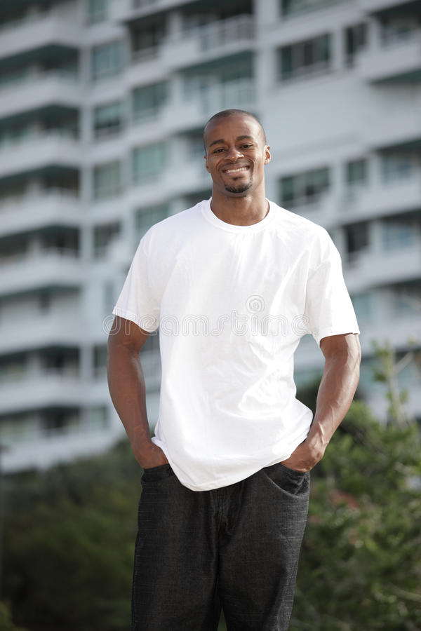 Black man smiling royalty free stock photography
