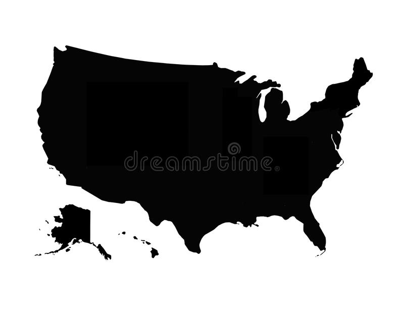 download black map of usa stock image image of picture territory 50269381