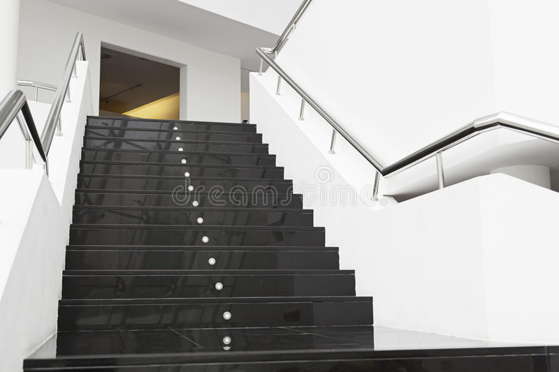 Black Marble Buildings : Black marble stairs stock photo image of fragment