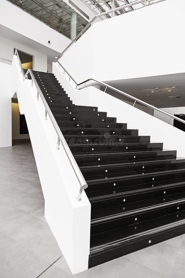 Black Marble Buildings : Black marble stairs stock photo image